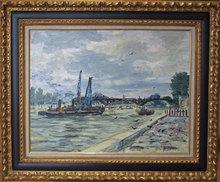 """Georges YOLDJOGLOU - Painting - """"La seine au Pont des Arts"""""""