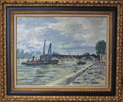 "Georges YOLDJOGLOU - Pittura - ""La seine au Pont des Arts"""