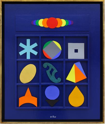 Lucio DEL PEZZO - Pintura - Casellario in blu