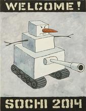 "Vasily SLONOV - Pintura - From the Series ""Welcome! Sochi 2014"""