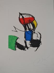 胡安·米罗 - 版画 - D1138 Chanteur De Rues  III