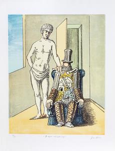 乔治•德•基里科 - 版画 - Il riposo dell'Archeologo, 1970 (Prima versione)