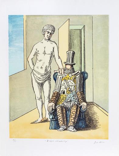 Giorgio DE CHIRICO - Grabado - Il riposo dell'Archeologo, 1970 (Prima versione)