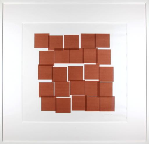 Véra MOLNAR - Dessin-Aquarelle - 25 carrés
