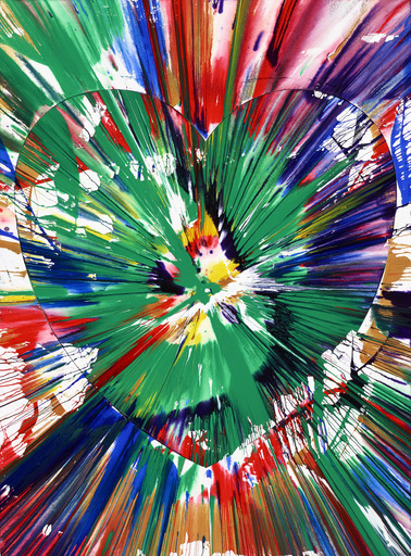 Damien HIRST - Painting - HEART SPIN PAINTING (TWO PARTS)
