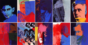 Andy WARHOL, TEN PORTRAITS OF JEWS OF THE TWENTIETH CENTURY FS II.226-235