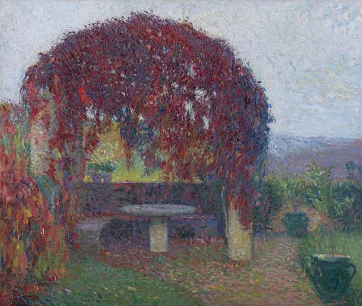 亨利•马丁 - 绘画 - Pergola Nord-Ouest de Marquayrol en fin d'automne