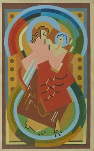 Albert GLEIZES - Drawing-Watercolor - Mother and Child