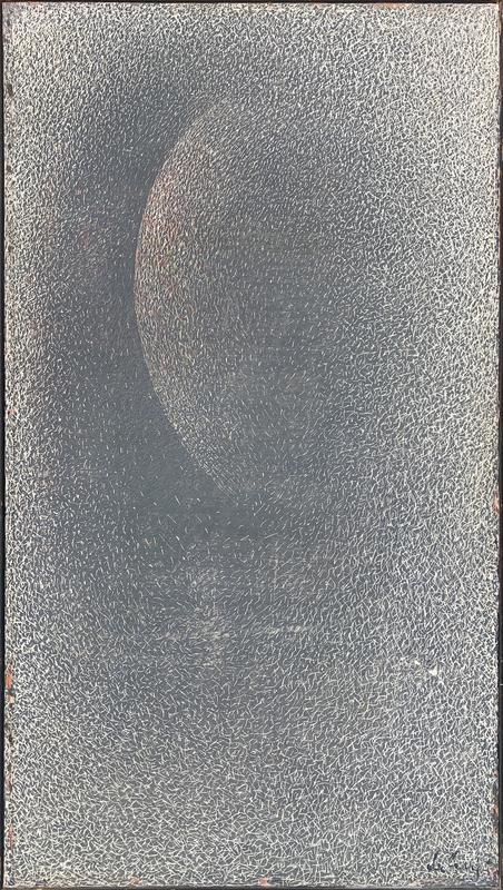 Mario DELUIGI - Pintura - Grattage grigio