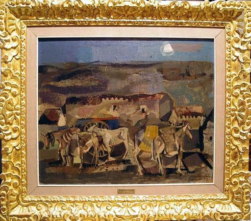 Agustín REDONDELA - Painting - Paisaje rural