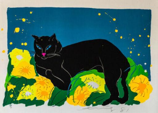 TING Walasse - Grabado - Black Cat