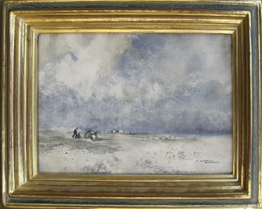 Ernest Pierre GUÉRIN - Dibujo Acuarela - Bretagne