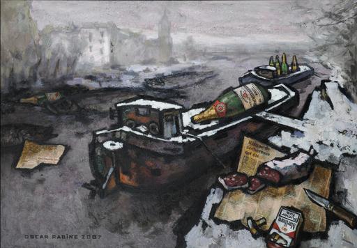 Oskar RABIN - Pintura - EVENEMENT SUR LA SEINE