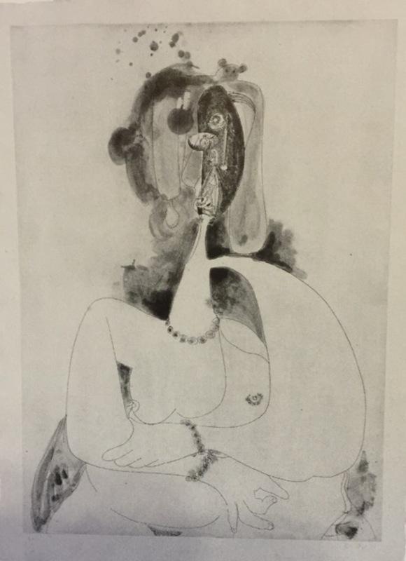 George CONDO - Estampe-Multiple - More sketches of Spain- For Miles David-8