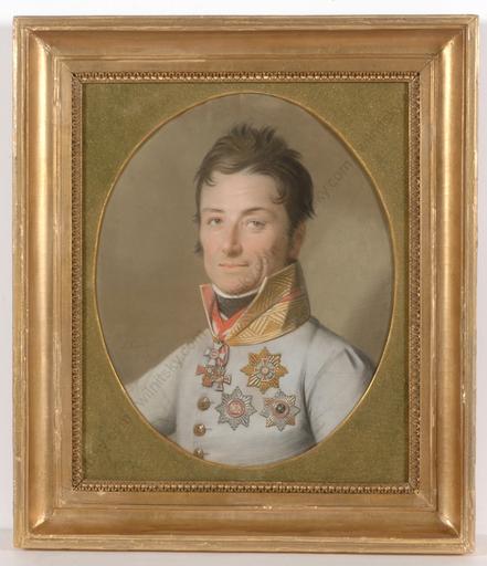 """Johann Heinrich SCHMIDT - Zeichnung Aquarell - """"Field-Marshal Johann von Klenau"""""""
