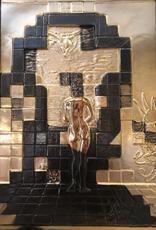 Salvador DALI - Sculpture-Volume - Lincoln in Dalivision Gold Bas Relief