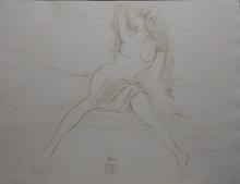 Salvador DALI (1904-1989) - Nudes Young Woman Rising