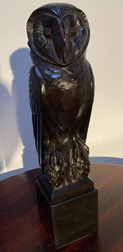 Henri THIERY - Scultura Volume - Sculpture en Bois la Chouette