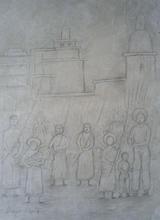 Diego RIVERA - Drawing-Watercolor - Domingo de Ramos