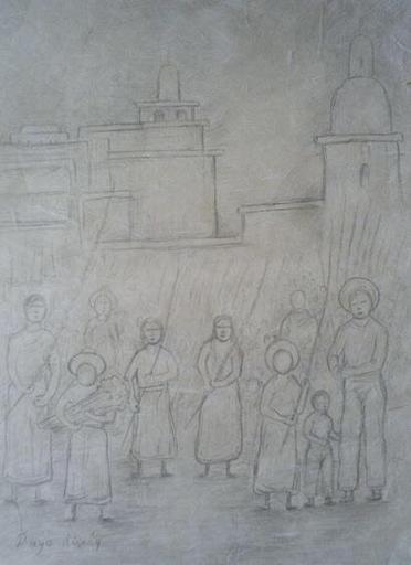 Diego RIVERA - Disegno Acquarello - Domingo de Ramos