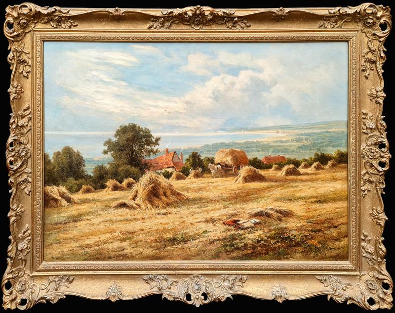 Henry H. PARKER - Painting - A Coastal Harvest