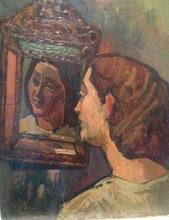 Sigmund LANDAU - Pintura - bela au miroir