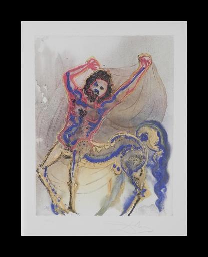 Salvador DALI - Grabado - Dalinean Horses The Centaur of Crete
