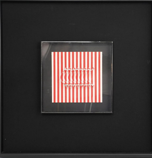 Julio LE PARC - Druckgrafik-Multiple - Chrome metal plates with acrylic paperboard