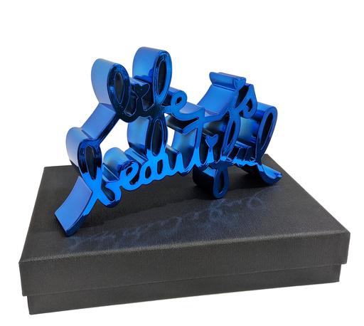 MR BRAINWASH - Sculpture-Volume - Life Is Beautiful - Hard Candy Blue