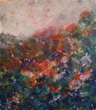 Patricia ABRAMOVICH - Gemälde - Blue climbing