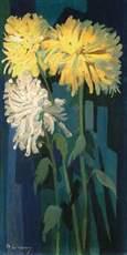 Mikhail LARIONOV - Painting - CHRYSANTHEMUMS