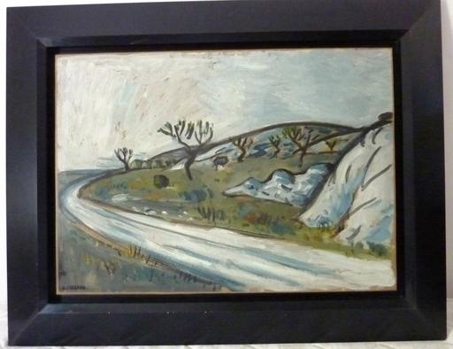 Auguste CHABAUD - Painting - La route de Frigolet