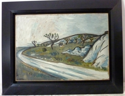 Auguste CHABAUD - Pintura - La route de Frigolet