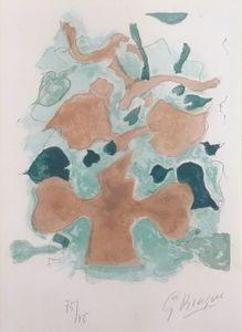 Georges BRAQUE - Estampe-Multiple - La Forêt