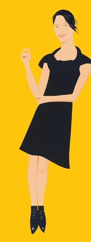 Alex KATZ - Grabado - Black Dress - Carmen