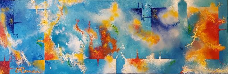 Romeo DOBROTA - Painting - Thunder lights,