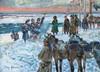 Jerzy KOSSAK - Gemälde - Burning Flags