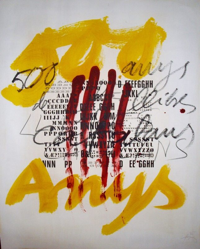 Antoni tapies original lithograph hand signed by artist for Sideboard yannick
