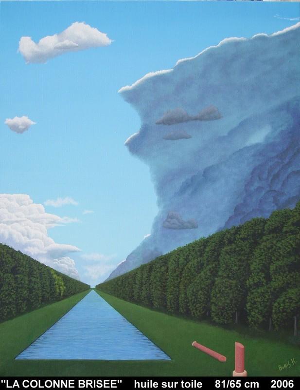 Boris KHELSTOVSKY - Painting - La colonne brisée
