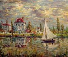 Jacques RUIZ - Pintura - Au fil de l'eau