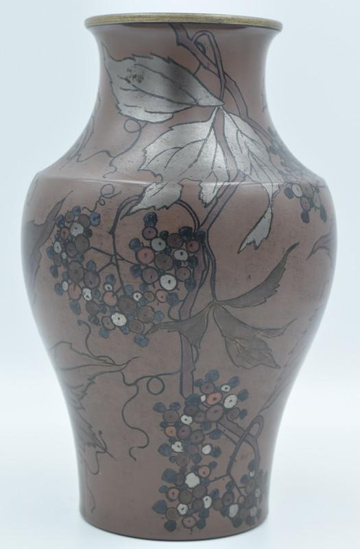 Boch Frères la Louvière – Vase balustre Art Nouveau
