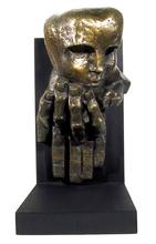 Ernst Iosipovitch NEIZVESTNY - Escultura - Face on Hand