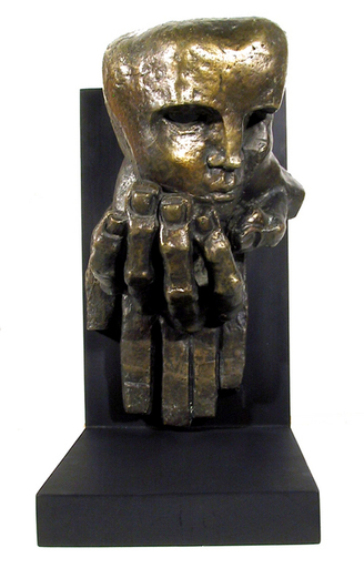 Ernst Iosipovitch NEIZVESTNY - Sculpture-Volume - Face on Hand