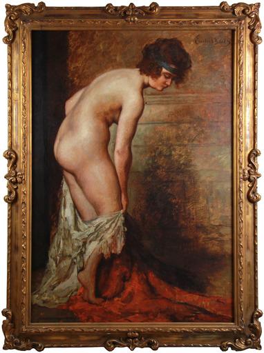 Emile BAES - Pintura - Nu au drapé
