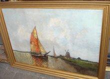 Otto WILD - Painting - Segelkutter vor fries. Küste