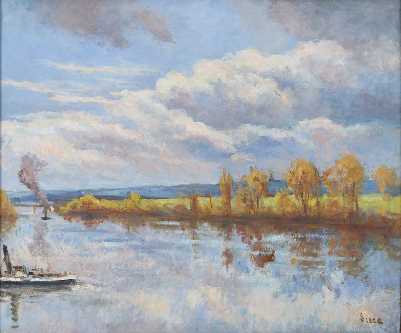 Maximilien LUCE - Painting - Bords de Seine