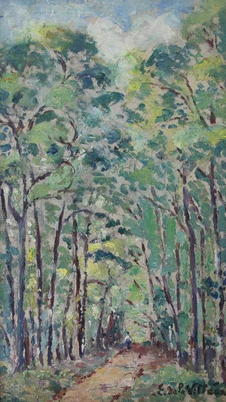 Emmanuel DE LA VILLÉON - Pintura - La garenne de Pesselières