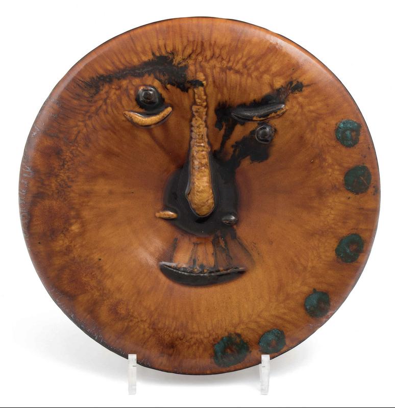 Pablo PICASSO - Ceramic - Visage au grand nez