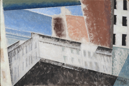 Lyonel FEININGER - Painting - Architectural Composition I