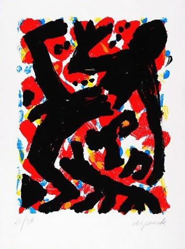 A.R. PENCK - Estampe-Multiple - Dresden 1992 Blatt 2